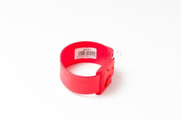 Bracelet plastique rouge