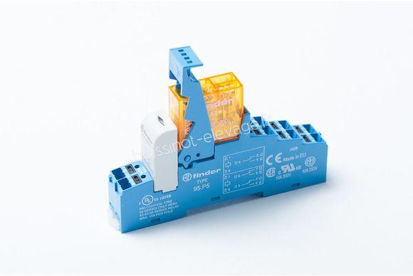 Relais 2RT 8A LED 24Vac prêt à câbler