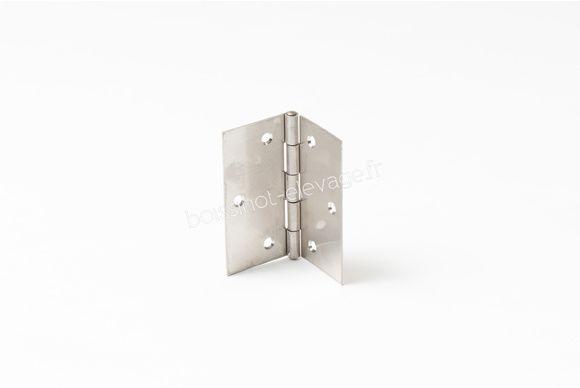 Charnière inox 304 - épaisseur 2 - 80x80