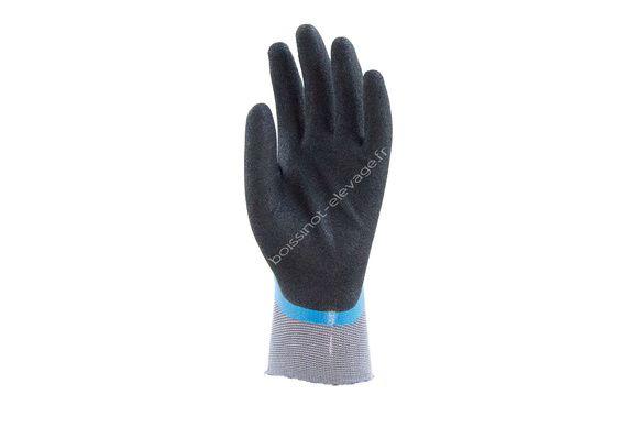 Gants polyamide tout enduit nitrile bleu