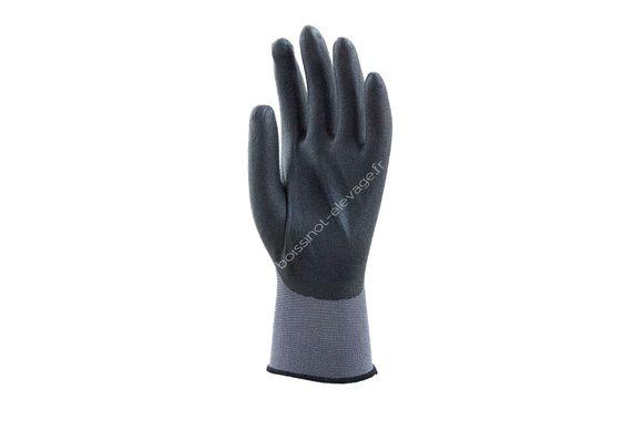 Gants polyamide gris enduit mousse