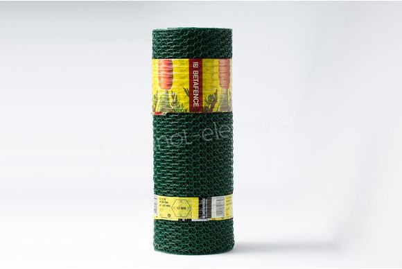Grillage TT plastifié vert hexagonal 13mm - L10m-H50cm-Ø1mm