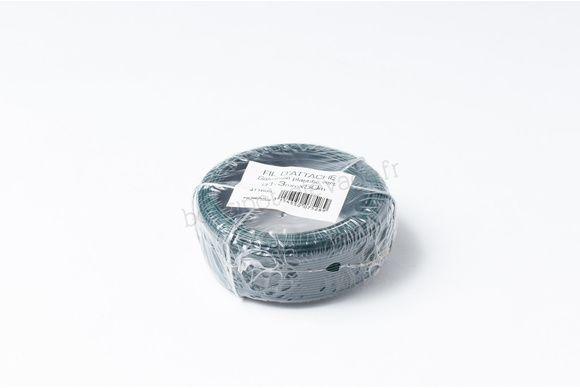 Fil d'attache galvanisé plastifié vert - Ø1,3mmx50m