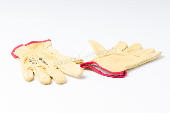 Gants  TT fleur de bovin jaune doublés MP38 - Taille XL