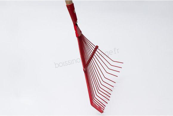 Balai gazon fil rond 21 dents - manche bois 140cm