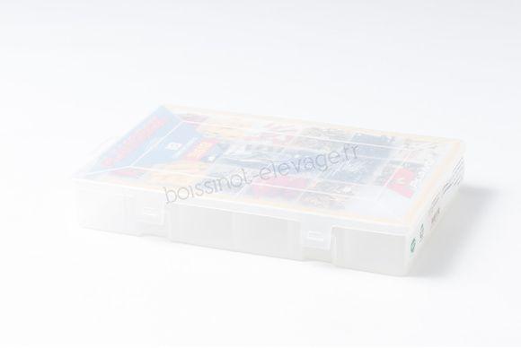 Boîte de rangement 18 compartiments 28x18x4cm
