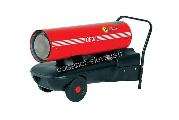 Chauffage air pulsé mobile au fuel à combustion directe