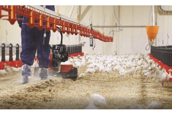 L'aérateur de litière aviaire
