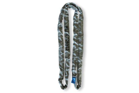 Elingue textile gris ronde 4T 3m