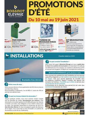 PROMOTIONS D'ÉTÉ 2021