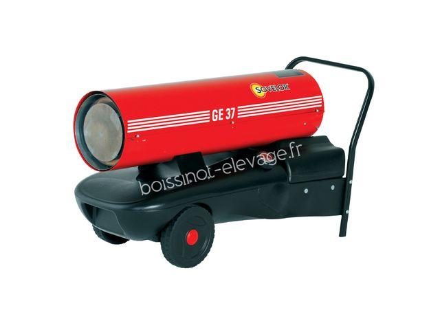 Promo Chauffage air pulsé mobile au fuel à combustion directe