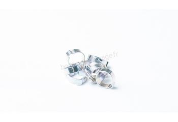 Collier à oreille acier zingué bi-chromate diamètre 10/17