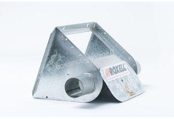 Boitard métal nu Ø55 simple + kit trappe