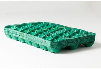100 Alvéoles kiwi PP 50x30 vert