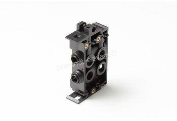 Embase MANNEBECK pneumatique double avec valve anti-retour