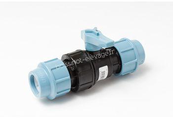 Vanne compression PE D.32