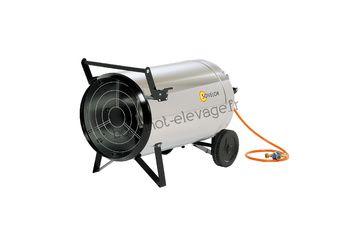 Chauffage air pulsé mobile au gaz propane à combustion directe