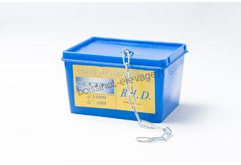 Chaine DIN 5685/C zinguée - le mètre