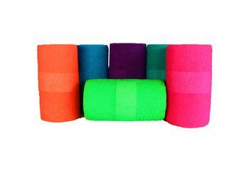 Bandes cohésives couleurs assorties fluos - Boîte de 18