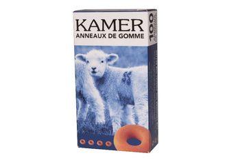 Anneaux de gomme orange Kamet - boite de 100