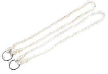 Corde de vêlage en nylon avec anneau par 2