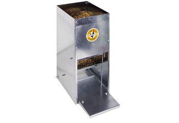 Mangeoire à trémie anti-nuisibles en acier galvanisé 30 L