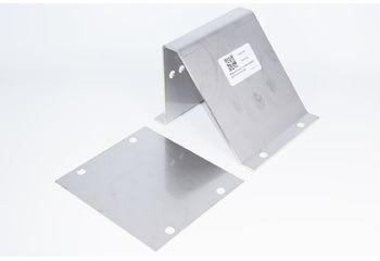 Support treuil + contre plaque épaisseur 2mm inox 304