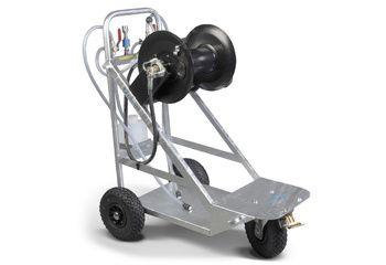 Chariot à mousse galvanisé injecteur 2 produits