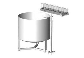 Godet supplémentaire de 2 litres pour LACTIS DAC